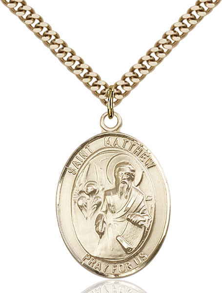 Gold-Filled Saint Matthew the Apostle Necklace Set