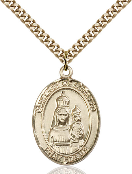 Gold-Filled Our Lady of Loretto Necklace Set