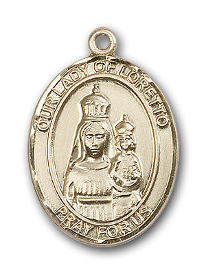 14K Gold OUR LADY of Loretto Pendant