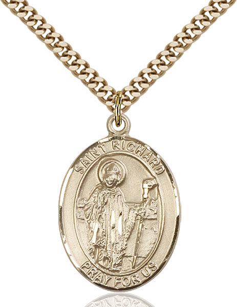 Gold-Filled Saint Richard Necklace Set