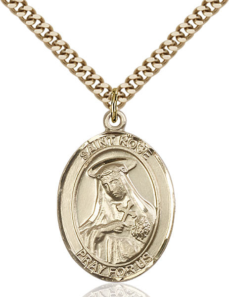 Gold-Filled Saint Rose of Lima Necklace Set