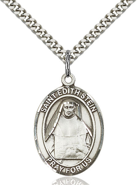 Sterling Silver Saint Edith Stein Necklace Set