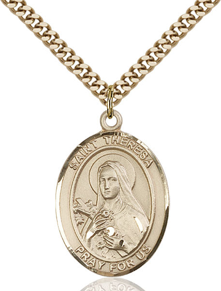 Gold-Filled Saint Theresa Necklace Set