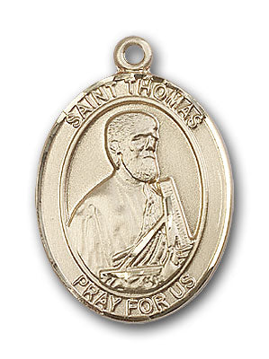 14K Gold Saint Thomas the Apostle Pendant