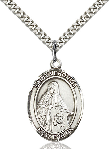 Sterling Silver Saint Veronica Necklace Set