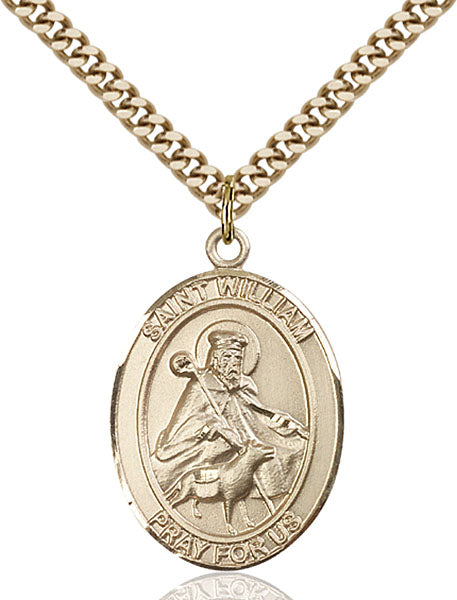 Gold-Filled Saint William of Rochester Necklace Set