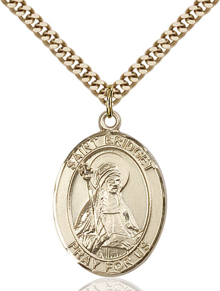 Gold-Filled Saint Bridget of Sweden Necklace Set