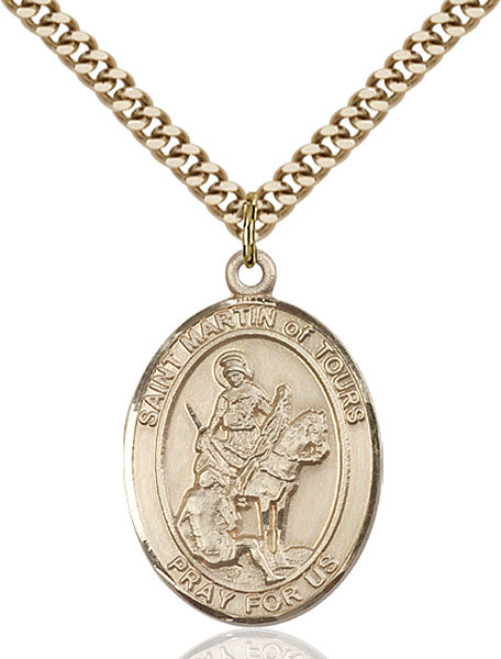 Gold-Filled Saint Martin of Tours Necklace Set