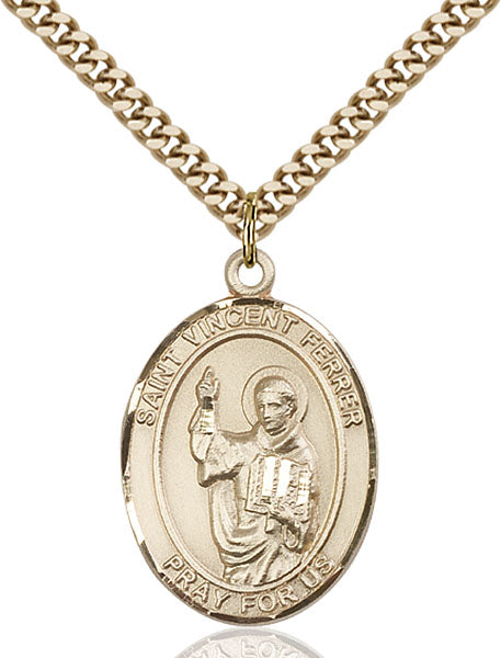 Gold-Filled Saint Vincent Ferrer Necklace Set