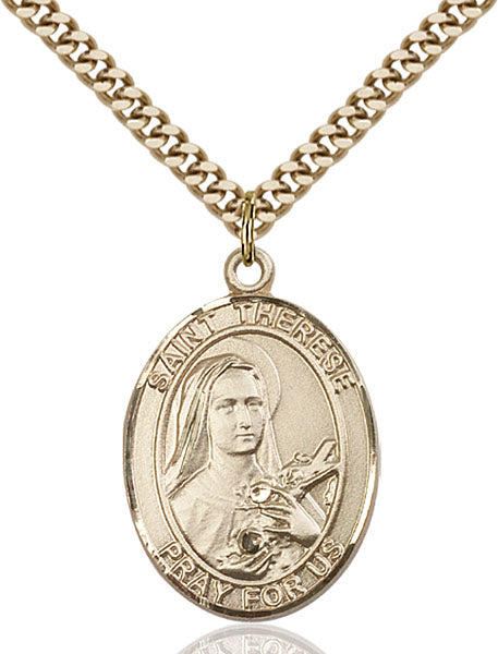 Gold-Filled Saint Therese of Lisieux Necklace Set