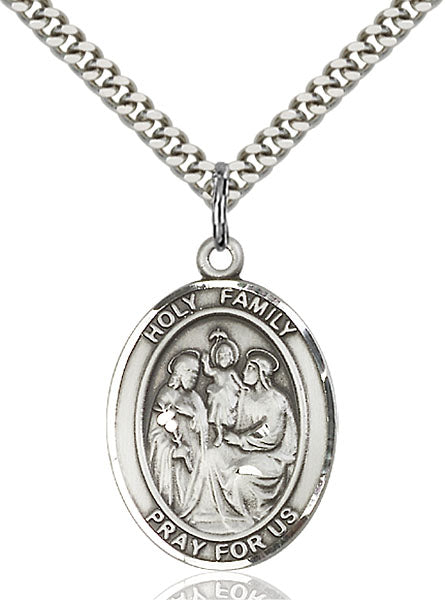 Sterling Silver Holy Family Necklace Set