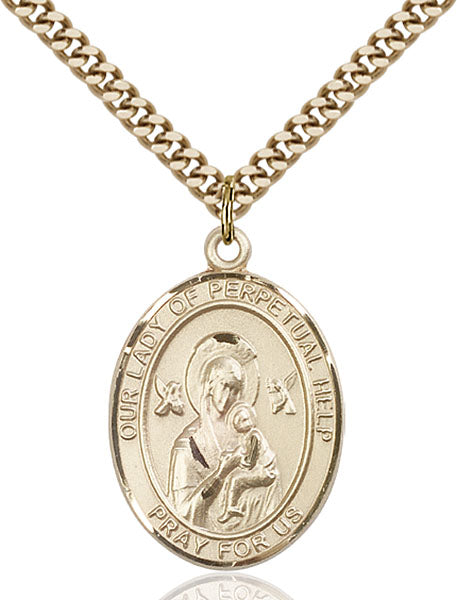 Gold-Filled Our Lady of Perpetual Help Necklace Set