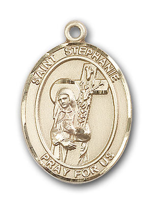 14K Gold Saint Stephanie Pendant
