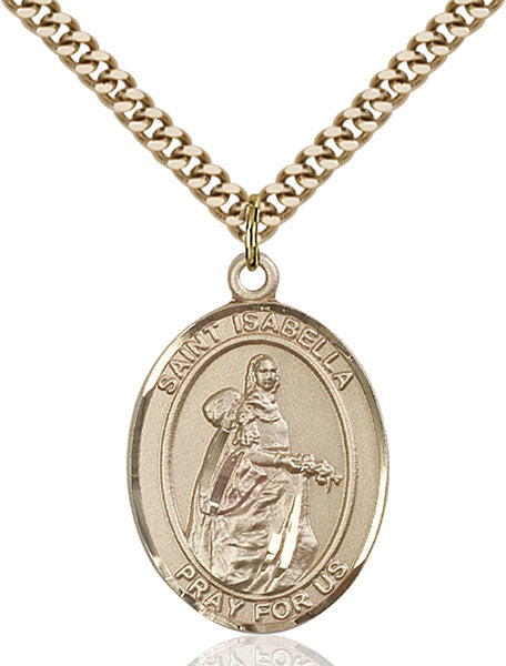 Gold-Filled Saint Isabella of Portugal Necklace Set