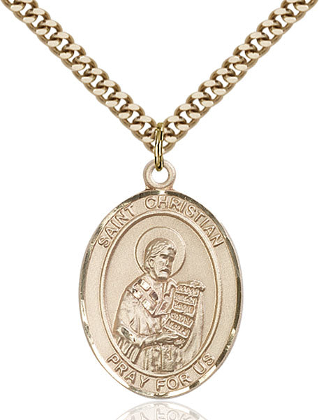 Gold-Filled Saint Christian Demosthenes Necklace Set
