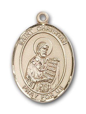 14K Gold Saint Christian Demosthenes Pendant