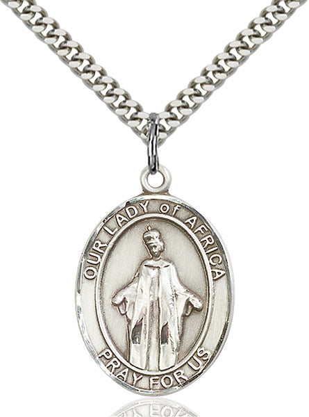 Sterling Silver Our Lady of Africa Necklace Set