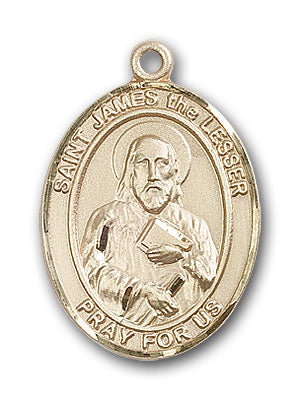 14K Gold Saint James the Lesser Pendant