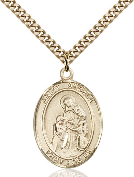 Gold-Filled Saint Angela Merici Necklace Set