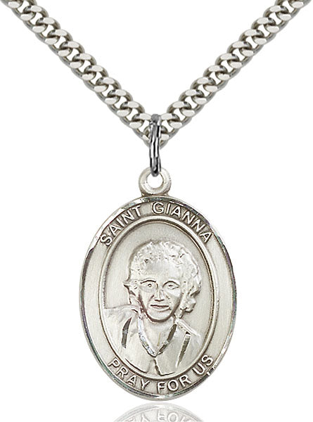 Sterling Silver Saint Gianna Necklace Set