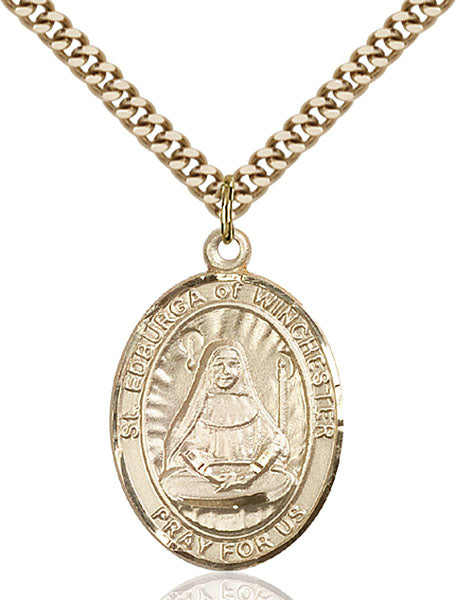 Gold-Filled Saint Edburga of Winchester Necklace Set