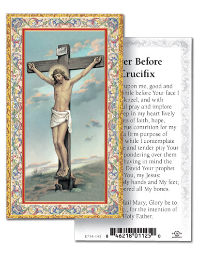 100-Pack - Prayer Before A Crucifix Holy Card