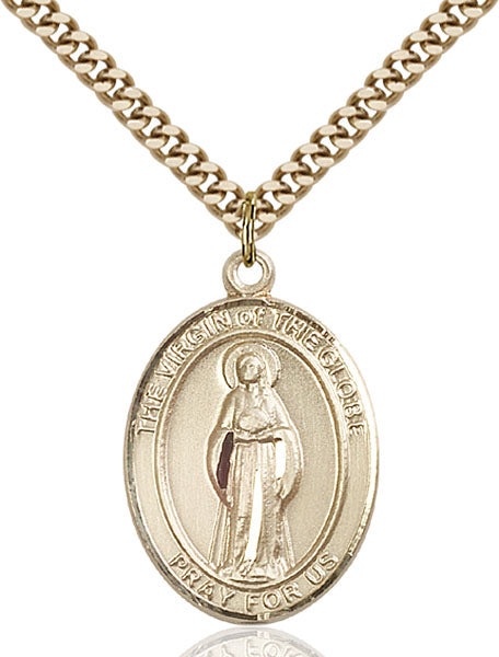 Gold-Filled Virgin of the Globe Necklace Set