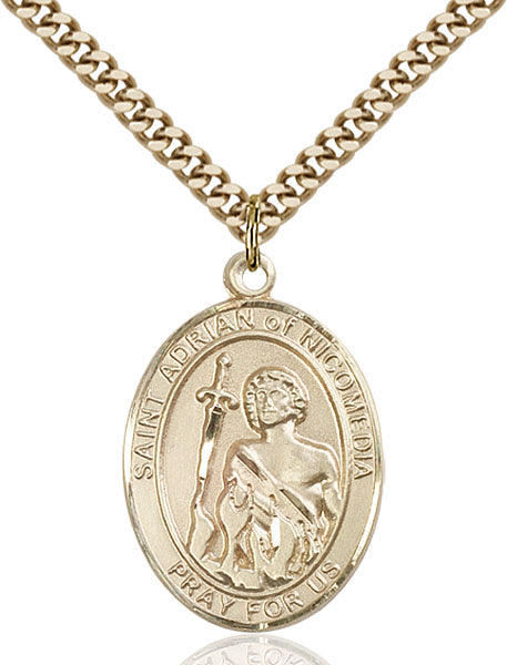 Gold-Filled Saint Adrian of Nicomedia Necklace Set