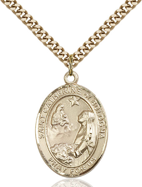 Gold-Filled Saint Catherine of Bologna Necklace Set
