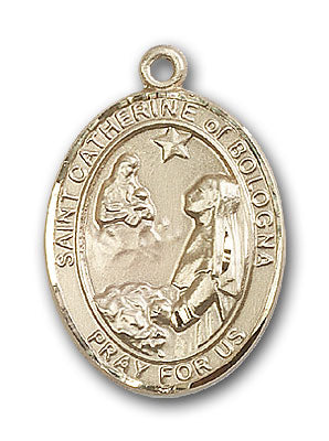 14K Gold Saint Catherine of Bologna Pendant