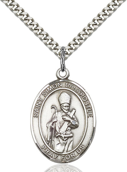 Sterling Silver Saint Simon Necklace Set