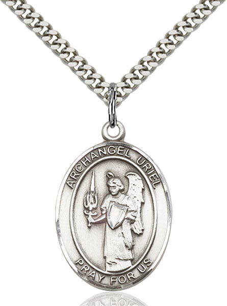 Sterling Silver Saint Uriel Necklace Set