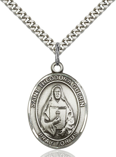 Sterling Silver Saint Theodore Guerin Necklace Set
