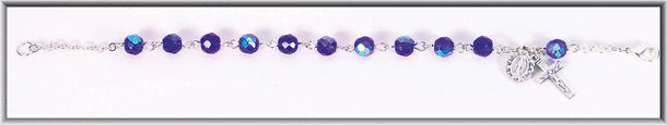 6MM Bead Cobalt Bracelet Boxed