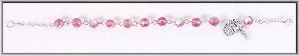 Light Rose 6MM Bead Bracelet Boxed