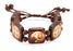 10-Pack - Saint Benedict Square Wood Bracelet