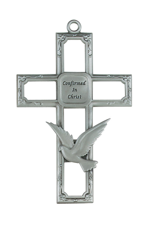 6-inch Pewter Confirmation Cross