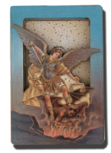 Saint Michael Multidimensional Easel/Magnet 5-Pack
