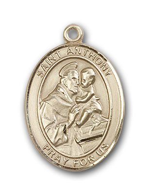 14K Gold Saint Anthony of Padua Pendant