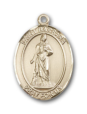 14K Gold Saint Barbara Pendant