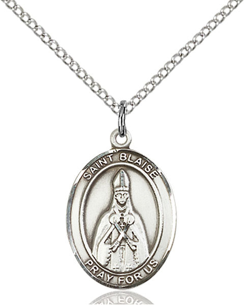 Sterling Silver Saint Blaise Necklace Set