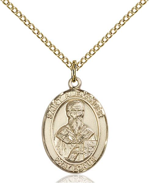 Gold-Filled Saint Alexander Sauli Necklace Set