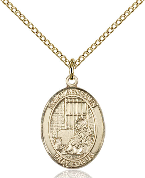 Gold-Filled Saint Benjamin Necklace Set