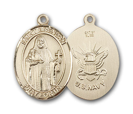 Gold-Filled Saint Brendan the Navigator Navy Penda