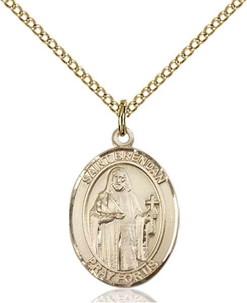 Gold-Filled Saint Brendan the Navigator Necklace Set