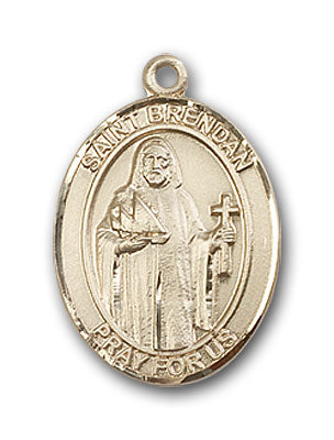 14K Gold Saint Brendan the Navigator Pendant