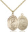 Gold-Filled Saint Christopher National Guard Necklace Set