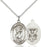 Sterling Silver Saint Christopher Navy Necklace Set