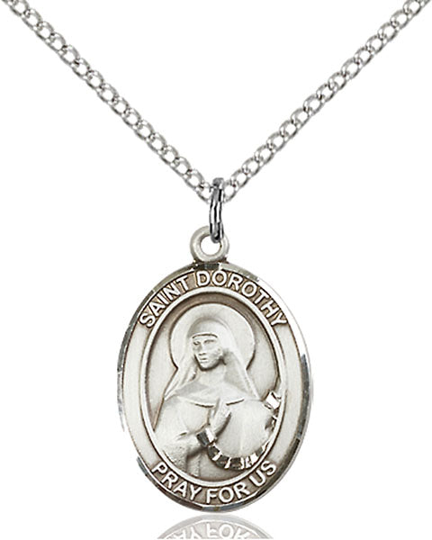 Sterling Silver Saint Dorothy Necklace Set