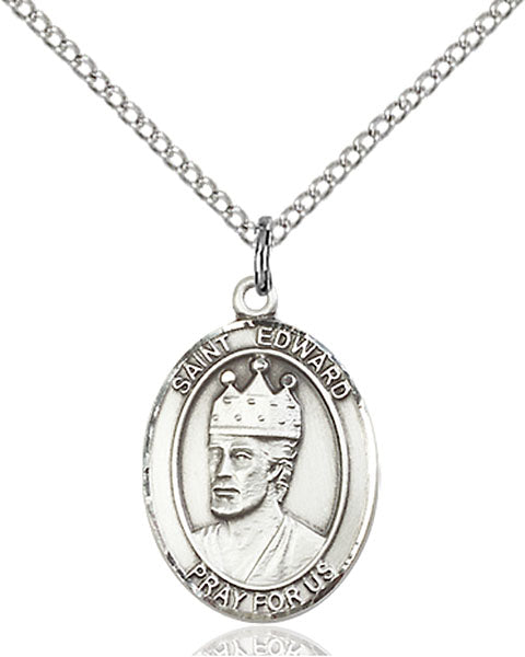 Sterling Silver Saint Edward the Confessor Necklace Set
